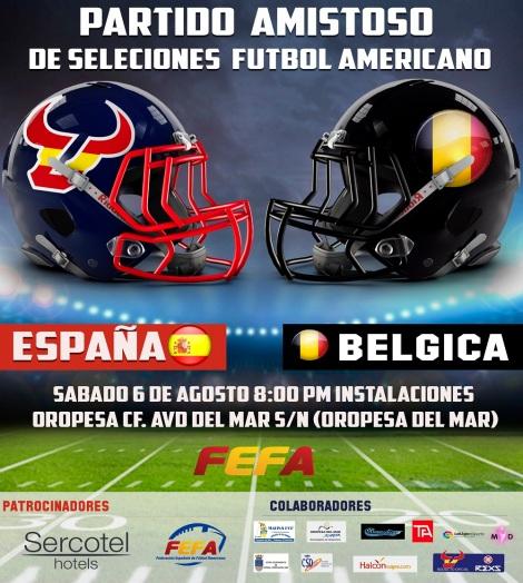 cartel España vs Bélgica